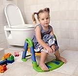 KidsKit Toilettentrainer 3 in 1 pink-weiß-grün