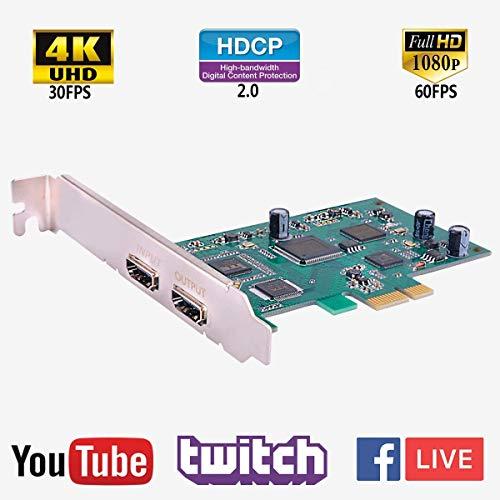 Y&H PCIe Game Capture Karte HDMI HD 1080P 60FPS Video Record Capture Unterstützung Twitch Hitbox Youtube Live Streaming für PS3PS4Xbox One 360WII U und Nintendo ezcap294 - Hdmi Pci-capture-karte