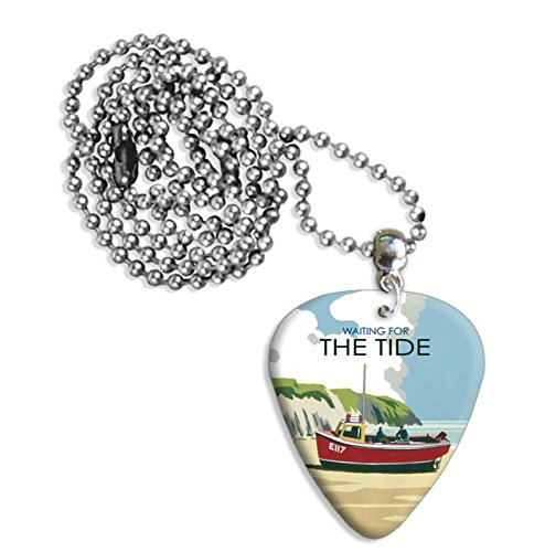 waiting-for-the-tide-boat-martin-wiscombe-pa-para-guitarra-collar-necklace-vintage-retro