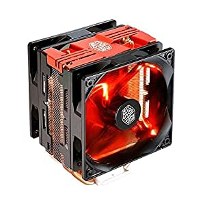 Cooler Master Hyper 212 LED Turbo Red Cover Ventola per CPU '4 Heatpipes, 2x Ventola da 120mm PWM, LED Rossi' RR-212TR-16PR-R1