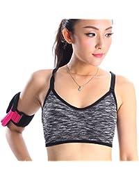 Imixcity Femme Brassière de Sport Push Up Antichoc Bra Sans Armature pour Fitness Yoga Running Course