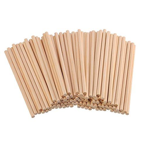 Unfertige Naturholz Handwerk Rund Stäb 100 Stück ( 6 x 1/ 4 - Dünnes Holz