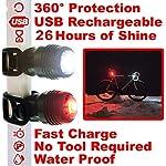 WASAGA-Luci-Posteriori-USB-Ricaricabili-per-Bici-Pista-per-Luce-Posteriore-a-LED-per-26-Ore-3-modalit-Luce-per-Mountain-Bike-Bici-da-Strada-Zaini-Impermeabile-e-Installazione-in-pochi-Secondi