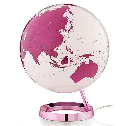 TECNODIDATTICA 0331F7Globo terráqueo Atmosphere Light & Colour Hot Pink, Rosa