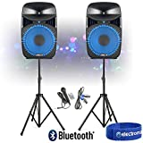 Best Dj Speaker Pairs - Portable Music System DJ Speakers Built-In Disco Party Review