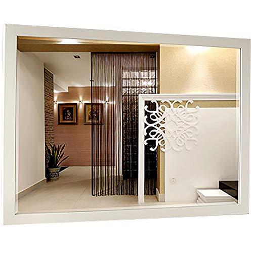 GUOWEI Spiegel Wandspiegel Hängespigel Badezimmer High-Definition Kunststoff Eingerahmt Make-up...