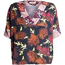 fdde16ec803e Mos Mosh Damen Oversized Loose Fit Kurzarm T-Shirt Bluse Sava Flore von  Mehrfarbig