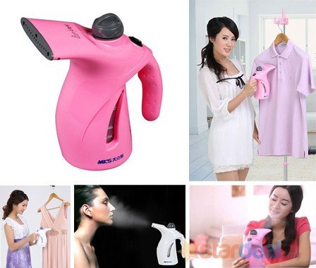 Krevia Plastic Portable Electric Garment Facial Steamer Brush for Ironing Clothes (Multicolour)