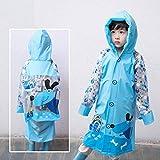 Regenmäntel Kinder Kindergarten Baby Kinder Studenten Jungen Und Mädchen Wasserdichter Poncho, Schultasche Standort (Farbe: D-m)