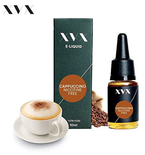 XVX E Liquid Cappuccino Flavour Electronic Liquid For E Cigarette Electronic Shisha Liquid 10ml Bottle Needle Tip Precision Pouring Choose Your Lifestyle New For 2016 Digital Smoke Nicotine Free Tobacco Free