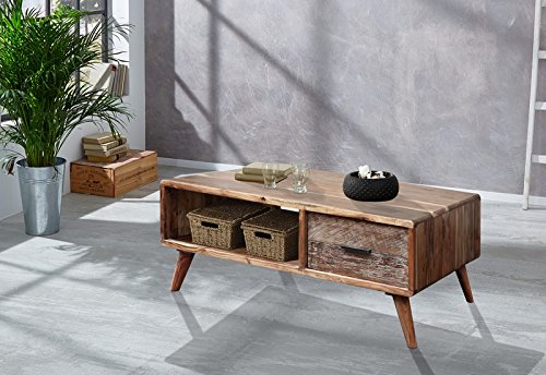 Table basse scandinave rectangulaire acacia massif \
