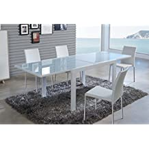 Mesas comedor modernas extensibles for Mesas de comedor amazon