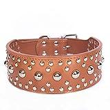 Klassische Halsbänder Klassische Halsbänder Großes Hundehalsband, Mode Kühlen Niet-Legierung Punk Großen Hundehalsband Spiked Verzierte Pu-Leder-Hundehalsbänder Für Gro