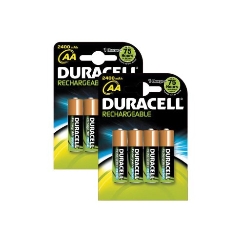 Preisvergleich Produktbild Duracell Supreme Wiederaufladbare AA-Batterien 2400 mAh,  12 Stück