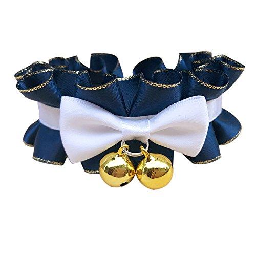 Kostüm Niedliche Hunde Handgemachte - Niedlicher Hund Katze Hochzeit Kragen Einstellbar Bowtie Handgemachte Spitzenband Mit Glocke Mode Kostüme Zubehör