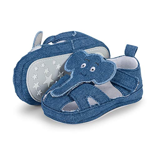 Sterntaler Jungen Baby-Sandale Slipper, Blau (Marine 300), 22 EU