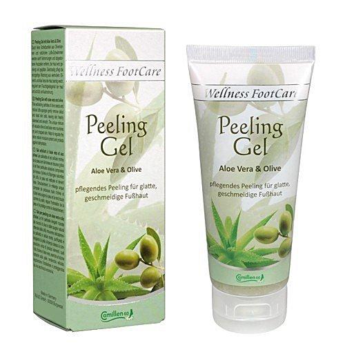 Peeling Gel Aloe, Olive, Camillen 60, Wellness Foot Care mit Aloe Vera und Olivenöl, 100 ml