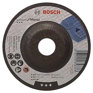 Bosch 2 608 603 181 – Disco de desbaste acodado Standard for Metal – A 24 P BF, 115 mm, 22,23 mm, 6,0 mm (pack de 1)