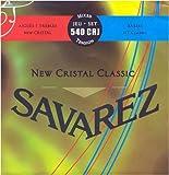Savarez Saiten für Klassikgitarre New Cristal Classic Satz 540CRJ Mixed Tension rot,blau