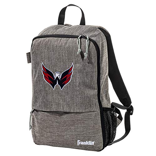 Franklin Sports Washington Capitals Street Pack Backpack - Official NHL Hockey Equipment Bags - Gray Hockey Backpack - Authentic Logos and Colors