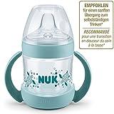NUK Nature Sense Trinklernflasche, extra breite und weiche Trinktülle, BPA frei, ab 6 Monate, 150 ml, grün
