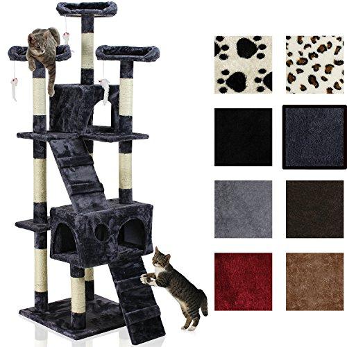 Katzen Kratzbaum ca. 170x75x65cm mit vielen Kuschel-und Spielmöglichkeiten KB 44 (dunkelblau)