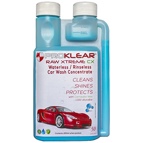 proklear waterless dry car wash concentrate raw xtreme cx carnauba wax rinseless / waterless auto wash concentrate 250ml - 50 washes PROKLEAR Waterless Dry Car Wash Concentrate RAW Xtreme CX Carnauba Wax Rinseless / Waterless Auto Wash Concentrate 250ml – 50 washes 51up5DGv9hL