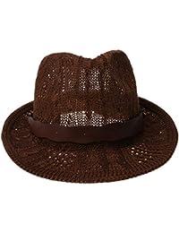 Eastery Gorros Sombrero De Sombrero Panamá Moda Mujer para De Fieltro Estilo  Simple De Punto Sombrero De Vaquero… 605e3511fd0