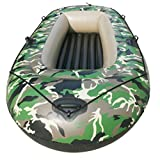 SHZJ 1 + 1 Persona Kayak Inflable, Accesorios para Kayak Paletas Carros Portaequipajes Cubierta De Ancla Correas De Correa Bomba Kit De Pesca Varilla Guantes