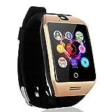 AGPtEK Q18s Smart Watch LCD tactile intelligente montre-bracelet avec caméra NFC Support Carte SIM de suivi de téléphone Anti-perdu message d'appel Sync pour Android Smart Phone Samsung S6 / S7 / Note 2/3/4/5, Nexus, HTC, SONY, HUAWEI et autres Smartphones Android...