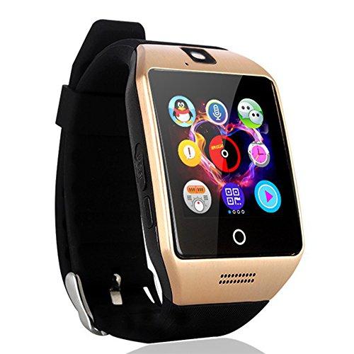 """Preisvergleich Produktbild AGPtek Q18s Smartwatch Bluetooth 3.0 mit 1.54"""" TouchScreen GSM GPRS SIM-Kartenschlitz 1.3MP Kamera für Android Samsung S6 / S7 / Note2 / 3 / 4 / 5, Nexus, HTC, SONY, HUAWEI"""