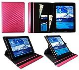 Wortmann Terra Pad 1003 Android Tablet Rosa 3D Cube Universal 360 Grad Drehung PU Leder Tasche Schutzhülle Case ( 9 - 10 Zoll ) von Sweet Tech