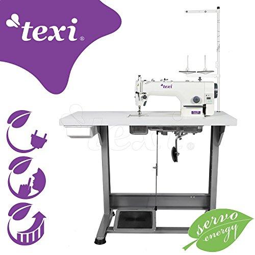 TEXI Industrie Nähmaschine - mit integriertem Servomotor - KOMPLETT (mit Tisch & Gestell) NEU!