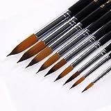 Pennelli 9pezzi Set professionale pennello punta rotonda nylon Hair Artist acrilico pennello per acquerello acrilico pittura ad olio di artigianato set 0–16#