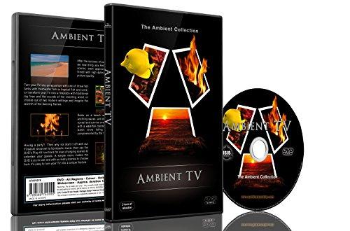 12 Edelstahl-abdeckungen (DVD-Ambiente TV - 12 Szenen in HD - Kamine-Aquarien-Feuerwerk-Natur-Landschaft)