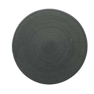 Decorline 1730291 Galaxie Set de Table Polypropène/Polyester Anthracite 38 x 38 cm