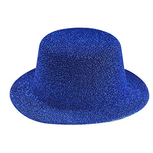 OLADO Glitter Mini Flat Top Hats für Frauen Fascinator Hüte Party Filz Basis Alligator Haarspangen