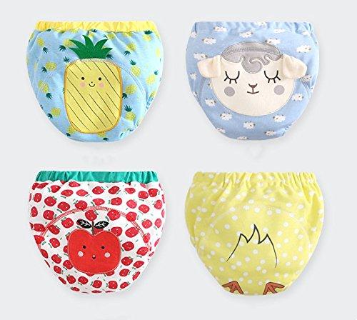babys lernen hose, urin, kot, urin, baumwolle, baumwolle, reiner baumwolle, atmungsaktiv, abwaschbar, abwaschbar, abwaschbar, windel, windel, brot, brot, hose und unterhose - hose. (4 Piece Set, 80cm)