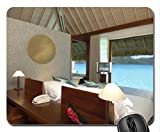 Interior of Water Bungalow Intercontinental Hotel Thalasso Spa Bora Bora Mouse Pad, souris (Beaches Mouse Pad)