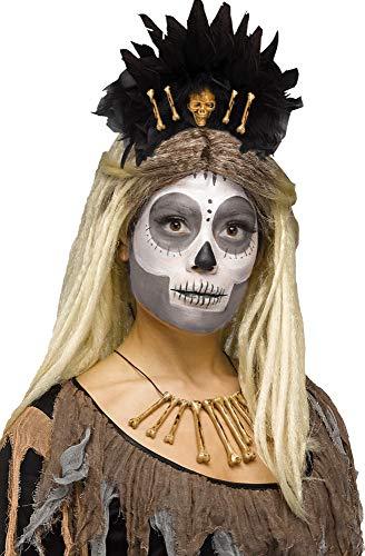 Fancy Me Damen Voodoo Queen Haarband Stirnband Haarband Kostüm Outfit Zubehör
