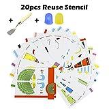 attopro 20pcs modèles de papier 3d pour les jeux pour adultes/enfants dans la pratique de la 3d gribouiller dessin de peinture, peuvent être utilisés de façon répétée.Il est parfait pour les enfants de plus de 8ans vieux et les adultes peu importe ...