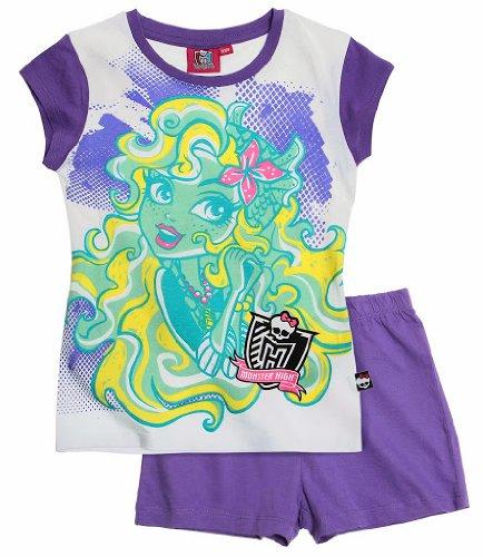 Monster High Shorty Pyjama Schlafanzug 3 Varianten (122/128, lila)