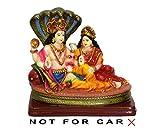 SUNNY CORPS™ VISHNU LAXMI Gift Statue Idol Showpiece Handicraft Murti Figurine Collectible Decorative Puja Pooja Spiritual Religious Hindu Temple/Home/Office Décor : LxHxW = 15cms x 14cms x 7.5cms