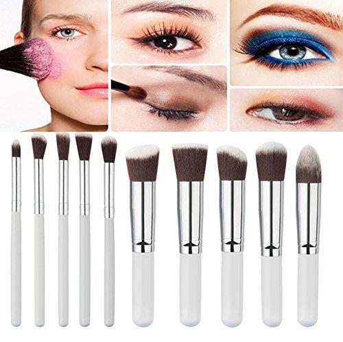 Demarkt Kit Pinceau Maquillage Brosse Professionnel 10PCS Eyebrow Shadow Makeup Blush Fond Teint AntiCerne (D)