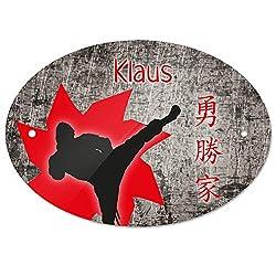 Eurofoto Türschild mit Namen Klaus und Fuchs-Motiv | Kinderzimmer-Schild