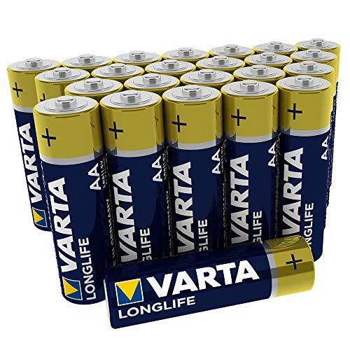 Varta Longlife Batterie AA Mignon Alkaline Batterien LR6 - 24er Pack