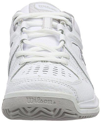 Wilson NVISION PREMIUM W Damen Tennisschuhe Mehrfarbig (WHITE/WHITE/STEEL GREY)
