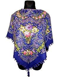 c2772db8dfc8 Coloré motif floral roses vintage style écharpe châle Russe printemps  Collection Folk