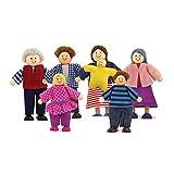 Melissa & Doug - Familia de muñecos de madera (12464)