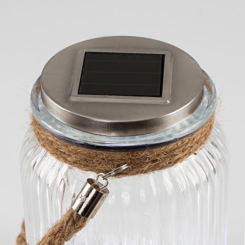Ultra-Bright-Outdoor-Solar-Powered-LED-Clear-Ribbed-Glass-Jar-Garden-Lights